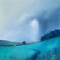 In the Blues by Barry Hilton -  sized 20x20 inches. Available from Whitewall Galleries